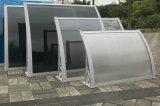Dosséis contínuos do toldo do policarbonato da decoração do sistema Overdoor do dossel