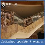 ホテルのロビーのためのガラスHandrialのカスタマイズされた製造のステンレス鋼