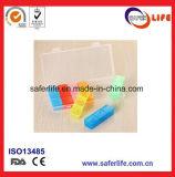 Nieuwe Wekelijkse Kleurrijke Plastic Houder 21 de Doos van de Pil van de Geneeskunde van Compartimenten