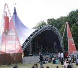 Banderas de la etapa al aire libre y bandera de encargo del acoplamiento del lienzo ligero para los contextos de los acontecimientos