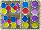 طبيعيّ لون رمل يستعمل في حجارة تأثير طلية