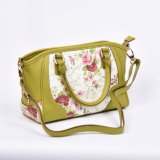 Sacchetto di spalla elegante del sacchetto di Tote dell'unità di elaborazione con la stampa del fiore sulla parte anteriore