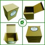 Packpapier-verpackenkasten Brown-Mit Aufkleber