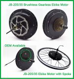 Jb-205-35 앞 바퀴 48V 1000W 무브러시 전기 자전거 E 자전거 모터