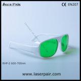 уровень изумлённых взглядов безопасности лазера лазера защитных Eyewear/для красных лазеров, рубин предохранения от 620-700nm Dir Lb5 высокий (RHP-2 600-700nm) с рамкой 52