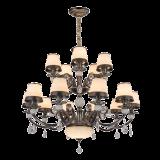 2017新しいデザインガラス(SL2271-6)が付いている水晶シャンデリアの照明ホームランプ