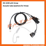 Écouteur Acoustic Clear Tube avec connecteur de déconnexion rapide Hirose 6 bro