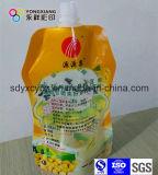 Größe kundenspezifischer Fastfood- Tülle-Kunststoffgehäuse-Beutel mit kundenspezifischer Form für Flüssigkeit