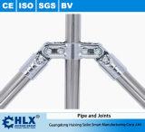 Edelstahl-Rohr für mobile materielle Zahnstange Hlx-PP006