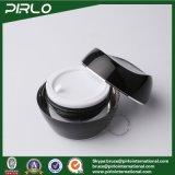 vaso di plastica cosmetico vuoto acrilico del vaso di 30g 1oz del nero di colore della mano del contenitore crema facciale crema di plastica acrilico della crema