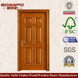 Дверь самомоднейших листьев типа изготовленный на заказ одиночных деревянная (GSP2-054)