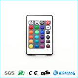 RGBライトストリップのために敏感な作動したLED音楽IRの遠隔コントローラの音