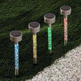 태양 관 빛 태양 아크릴 거품 통로 훈장 정원 지팡이 말뚝 빛 세트