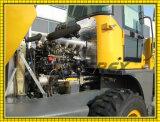 Maquinaria agrícola Retroescavadora de rodas com escavadeira e balde fabricadas na China