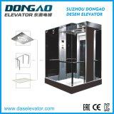 O design de portas do espelho do elevador de passageiros em aço inoxidável