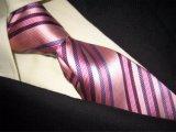 (PStrip1-5) Soie tissée par jacquard de Soild, la cravate des hommes de cravate de polyester