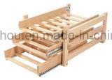 木製のびんの記憶の赤ワインラックを滑らせるキャビネットをカスタマイズしなさい