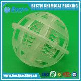 La bola plástica de la jaula se aplica en el tratamiento de aguas residuales