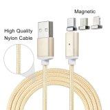 2.4 un cargador magnético de carga micro del adaptador del cable del USB para todo el Smartphone
