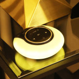Haut-parleur Bluetooth portable et lumière de nuit, USB rechargeable LED Eye Protect Touch Table Lamp avec haut-parleur