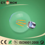 Hoge LEIDENE van de Lamp van de Gloeidraad van het Lumen Bol G80 8W