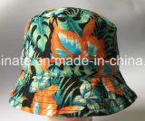 sombrero reversible de 100%Cotton Sun con All Over la impresión (LY061)