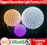 Sfera 2017 del fiore di Sakura di natale per la sfera chiara esterna cambiante del fiore di natale LED di colore LED della sfera chiara esterna del partito