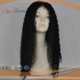 Full Lace Cabelo humano Kinky preto encaracolado mulheres Peruca (PPG-l-01794)