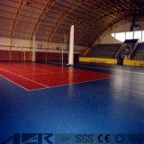 実行中および快適なスポーツ裁判所PVCフロアーリングのLitchiの穀物