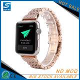 Appleの腕時計のためのアダプターの時計バンドが付いている38mm 42mmの置換のステンレス鋼のダイヤモンドストラップ