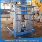 Elevatore elettrico verticale portatile dell'uomo dell'elevatore idraulico della lega di alluminio