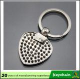 Metal en blanco Keychain del rectángulo