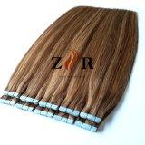 ヘアケア製品のバージンのRemyのブラジルの毛PUのWeftテープ