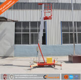 Elevatori portatili dell'uomo del singolo albero di alluminio da vendere