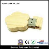 USB di legno Pendrive (USB-W309) di disegno del fiore