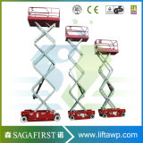 auf der selbstangetriebenen Förderung-hydraulisches Anhebenlaufkatze Scissor Aufzug-elektrische Strichleitern