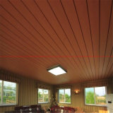 matériaux composés en plastique en bois de décoration de panneau de plafond de 50*90mm Brown WPC