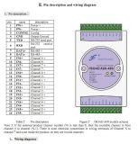RS232/RS485/RJ45によって隔離される送信機yad08-RJ45シリーズへの事またはローカルエリア・ネットワーク0-5V/0-10V/4-20mAのインターネット