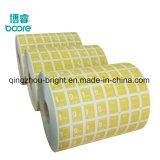 Impreso en papel de la lámina de aluminio de piercing cuidados después de