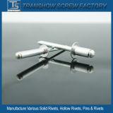開いたタイプリベットのアルミニウム/Steelの半球形のヘッドブラインドのリベット