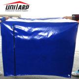Lona de PVC cubierta de palets con cremallera