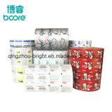 Colores impresos en relieve el papel de aluminio laminado de papel para regalo decora