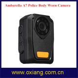 Construido en el GPS de visión nocturna por infrarrojos Ambarella A7 Full HD 1080P de la cámara de vídeo de la policía Cuerpo