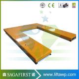 1ton reparierter flacher hydraulischer u-Typ Scissor Aufzug-Tisch-Ladeplatte Scissor Aufzug