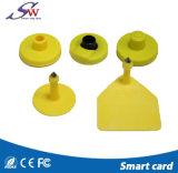 Tag de orelha de seguimento animal de 134.2kHz Tk4305 RFID