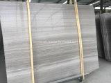 Mattonelle di marmo bianche del legname naturale cinese di buona qualità per il rivestimento della parete e della pavimentazione