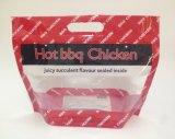 Flexible de plástico envases de pollo BBQ asado caliente bolsa de comida