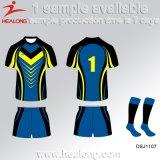 Camisa de Jersey del rugbi de los hombres de la sublimación de la ropa de deportes de la alta calidad de Healong China