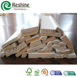 Junta do dedo branco ferrado piso de Tecto moldura de madeira
