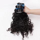 Италия высшего качества человеческого волоса Weft кривой